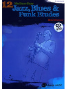 12 Medium-Easy Jazz, Blues & Funk Etudes for Saxophone (Book/CD)