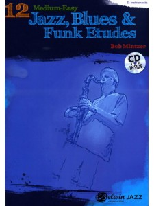 12 Medium-Easy Jazz, Blues & Funk Etudes (Book/CD