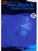 12 Medium-Easy Jazz, Blues & Funk Etudes for Bass Clef Instruments (Book/CD)