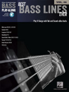 Best Bass Lines Ever: Bass Play-Along Volume 25 (book/Audio Online)