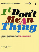 It Don't Mean A Thing for Ato/Tenor Sax (book/CD play-along)