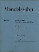 Felix Mendelssohn: Songs Without Words