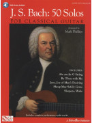 J.S. Bach: 50 Solos for Classical Guitar (book/CD)