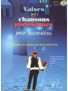 Valses et chansons parisiennes pour accordion (book/CD)