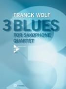 3 blues for Saxophone Quartet (book/CD play-along)