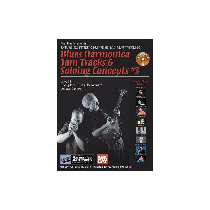 Blues Harmonica Jam Tracks & Soloing Concepts 3 (book/CD