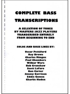Complete Bass Transcriptions