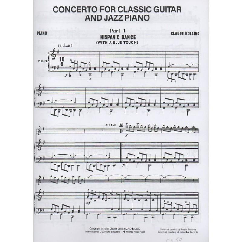 Piano piano trio sheet music : Concerto for Classical Guitar & Jazz Piano Trio - Birdland Shop