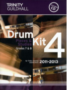 Trinity Guildhall: Drum Kit 4 - Grade 7/8 Pieces & Studies 2011 - 2013 (book/CD)