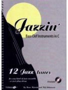 Jazzin': Bass Clef Instruments in C (book/CD play-along)