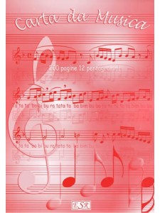 Blocco 200 pagine - 12 pentagrammi - Fogli staccabili