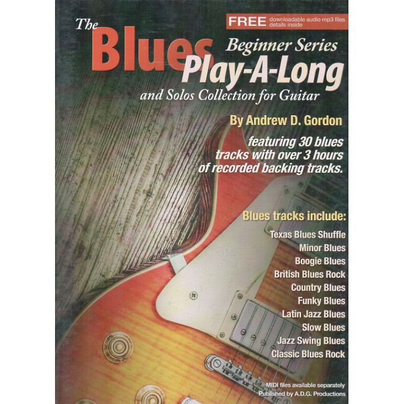 The Blues Play-A-Long for Guitar Beginner Series (book