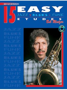 15 Easy Jazz, Blues & Funk Studies - Bass Clef Instruments (book/CD)