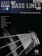 Best Bass Lines Ever: Bass Play-Along Volume 25 (book/Audio Online)