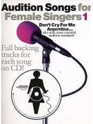 Audition Songs: Don't Cry For Me Argentina - Female Singers (book/CD)