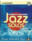 16 Moderately Challenging Jazz Solos - Alto Sax (book/CD)
