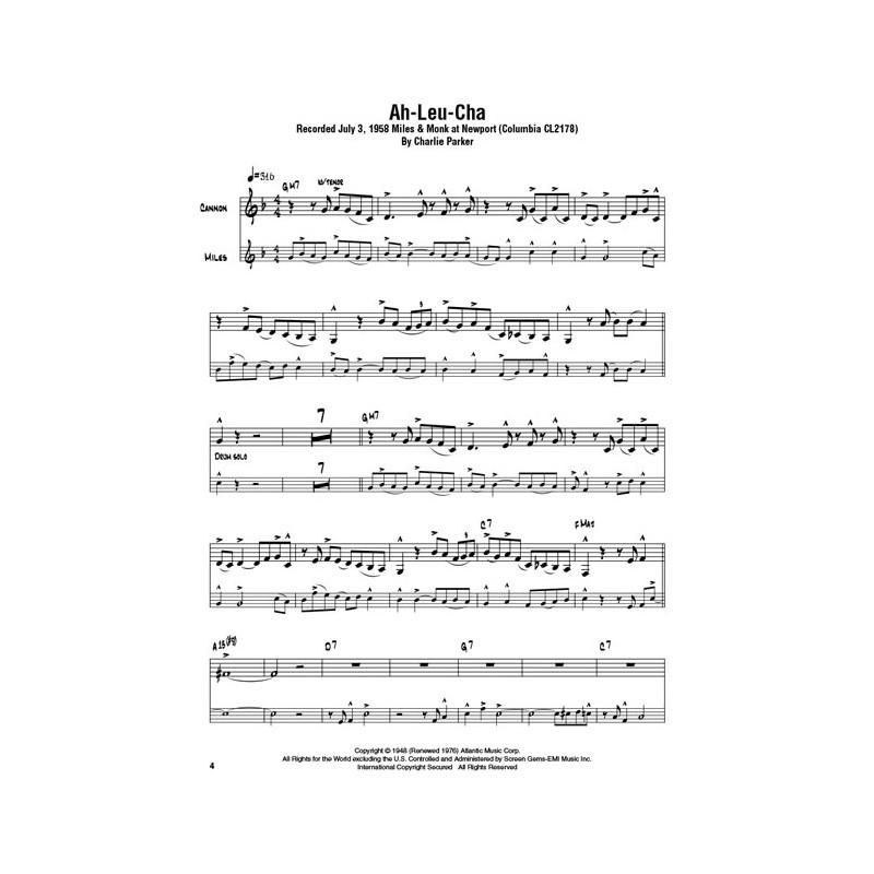 Cannonball Adderley Omnibook sheet music