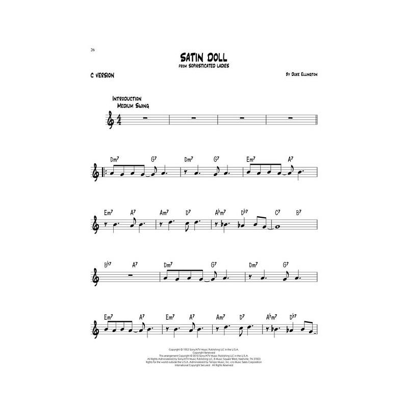 standard jazz play along, easy jazz songs