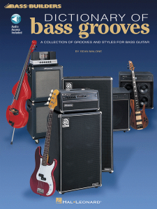 Dictionary of Bass Grooves (book/Audio Online)