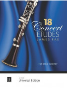 18 Concert Etudes - For Solo Clarinet