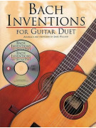 Bach Inventions for Guitar Duet (book/2 CD)