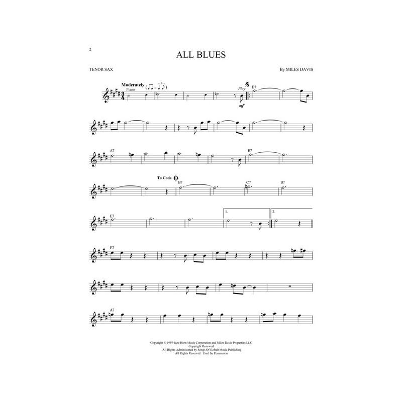 Jazz Blues Favorites Tenor Sax