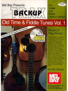 Backup Trax: Old Time & Fiddle Tunes for Guitar & Banjo (book/CD)