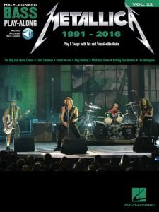 Metallica: 1991-2016: Bass Play-Along Volume 22 (book/Audio Online)