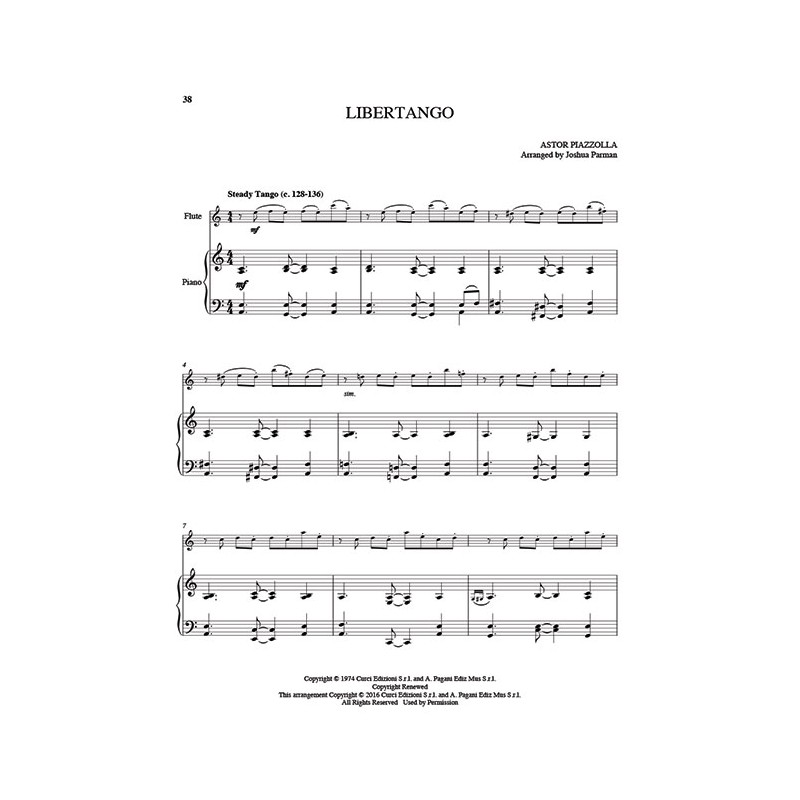 25 Piazzolla Tangos for Flute