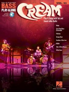 Cream: Bass Play-Along Volume 52 (book/Audio Online)