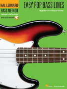 Hal Leonard Bass Method: Easy Pop Bass Lines (book/CD)