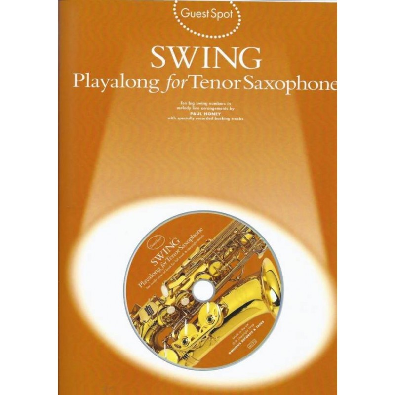 Jazz Playalong for Saxophone Guest Spot Alto Sax Music Book /& Backing Tracks CD